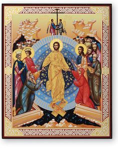 Monastery Icons offers a large number of icons of Christ in a traditional Russian style, such as this Resurrection Icon. Monastery Icons, Home Altar, Russian Icons, Orthodox Christianity, Orthodox Icons, Happy Easter, Egyptian, Jesus Christ, Creations