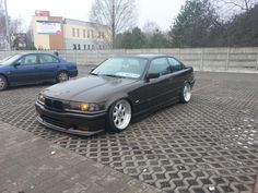 Brown BMW e36 coupe on cult classic Gotti/ACT/Ronal SX 3 piece wheels
