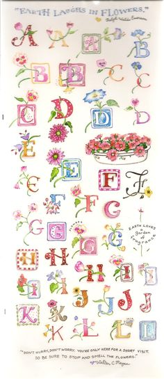 Susan Branch's Flower Alphabet