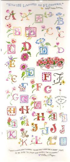 Susan Branch's Flower Alphabet