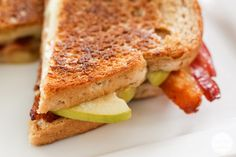 Jalapeno Bacon Apple Grilled Cheese. Cheese, jalapeños, apples, and bacon. My favorite foods all wrapped in one.