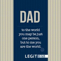 Don't take advantage of having a dad. Love you dad. Good Father Quotes, Fathers Day Quotes, Good Good Father, New Dad Quotes, Happy Fathers Day Daddy, Fathers Love, Happy Quotes, Best Quotes, Life Quotes