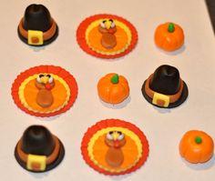 Thanksgiving Fondant Cupcake Cake or Cookie by iamladycupcake, $19.95