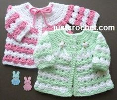Free baby crochet pattern for newborn coat http://www.justcrochet.com/newborn-coat-usa.html #justcrochet: