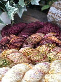 Hand Dyed Sock Yarn Pink Black Merino Singles Tonal Boysenberry Purple Ready to Ship Mauve