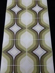 groen bruine ruit geometrisch behang