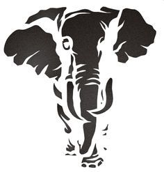 Elephant Stencil. This would make a nice pattern.