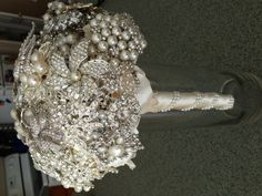 Pinterest only preview - #broochbouquet  #vintage #heirloom #pearls by #broochbeautiful Brooch Beautiful custom brooch bouquet assembly service bouquet.