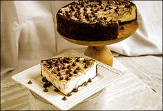Home-made, fresh ingredients. A Family owned business featuring 30 flavors of elite cheesecakes. Marble Chocolate, Apple Crumb, Chocolate Chip Cheesecake, Cookies And Cream, Cheesecakes, Baked Goods, Bakery, Cherry, Pumpkin