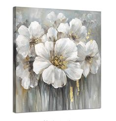 Wall art botanical pictures painting white lily bouquet of flowers oil painting floral artwork print on wrapped canvas for walls Flower Painting Canvas, Oil Painting Flowers, Flower Canvas, Abstract Flowers, Canvas Artwork, Artwork Prints, Painting Prints, Paintings, Canvas Canvas