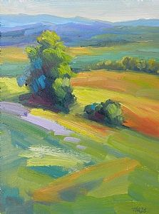 Yamhill by Hazel Schlesinger Oil ~ 12 x 9 Pastel Landscape, Abstract Landscape Painting, Landscape Art, Landscape Paintings, Abstract Art, Landscapes, Impressionist Paintings, Art Techniques, Painting Inspiration
