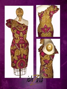 I love African inspired dresses! African Theme, African Attire, African Wear, African Dress, African Clothes, African Style, African Men Fashion, Tribal Fashion, Ankara Fashion