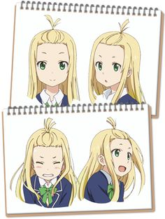 Hate Colette in the show, but she still a cutie. Character Concept, Character Art, Character Design, Character Sheet, Anime Girl Drawings, Art Drawings, Manga Collection, Anime School Girl, Kyoto Animation