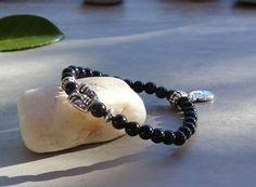 Bracelet de protection-bracelet en pierres d'obsidienne noire-bijou…