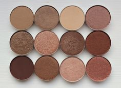 8 mac eyeshadow swatches golds. Soba / Woodwinked / Ricepaper / Sable. Tempting / Honeylust / Mulch / Antiqued. Embark / Bronze / All That Glitters / .