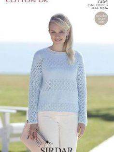 0b44ec9bc3c Sirdar 7354 Woman s Sweater Knitting Supplies