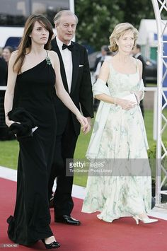 Lord and Lady Brabourne with their daughter Alexandra arrive for a party/dinner at the Royal Windsor Horse Show on May 12, 2006 in Windsor, England.