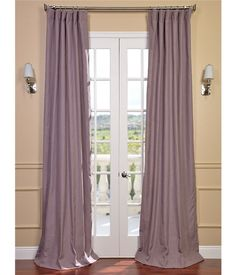 Mauve Textured Linen Blend  Pole Pocket Curtain on discounted prices with coupon and promo codes from Halfpricedrapes.com.