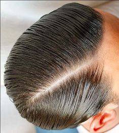 Slick Hairstyles, Classic Hairstyles, Hairstyles Haircuts, Pomade Hairstyle Men, Hair Pomade, Great Haircuts, Haircuts For Men, Pompadour, Brylcreem