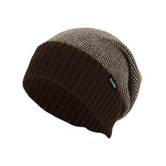 Men's Ben Sherman Birdseye Slouch Beanie - Brown Heather Beanies ($40) ❤ liked on Polyvore featuring men's fashion, men's accessories, men's hats, mens hats, mens slouch hat, mens beanie and mens slouchy beanie hats