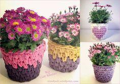 Baskets or Flower Pot Covers....same idea