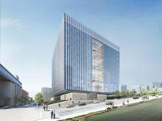 slated for LEED platinum status, SOM's los angeles federal courthouse breaks ground - designboom   architecture & design magazine