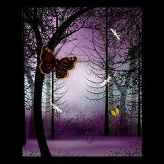 Twilight Fantasy   Tree Art Print  8 x 10   Trees by RusticGoth, $20.00