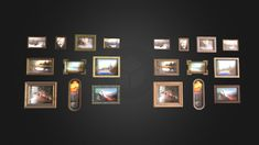 Framed Oil Picture Pack Vol.1 | Game Assets by ieva_lickiene Game Engine, Game Assets, Vintage Metal, Oil Paintings, Wooden Frames, Picture Frames, Royalty, Packing, Hand Painted