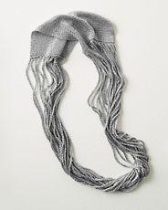 Eileen Fisher Drapey Metallic Knit Necklace