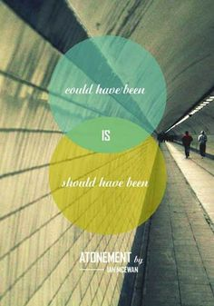 modern and brilliant take on Atonement (Ian McEwan) cover by Laura Schillemans