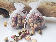 Organic Rose Bud Sachets with Pink Opal by AmykeDesign on Etsy, $5.50