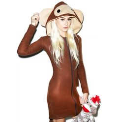 Monkeying Around Hoodie Costume. Curious George and the man in the yellow hat costumes? Possibilities!