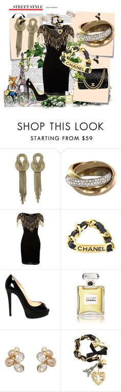 """Rycah Fhyna"" by rycah-fhyna ❤ liked on Polyvore featuring Lara Bohinc, Cartier, Chanel, Biba, Christian Louboutin, Betsey Johnson, ASOS, Post-It and La Tour Eiffel"