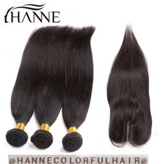 Peruvian virgin Hair Bundles With Lace Closure Peruvian Human Hair straight With Closure unprocessed straight Hair With Closure