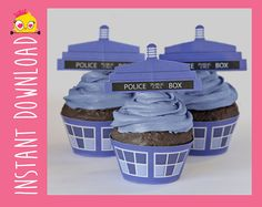 who cupcake wrappers and toppers