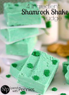 4 Ingredient Shamrock Shake Fudge...⭐...