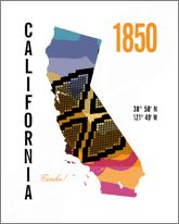 California Map Print travel poster – JHill Design
