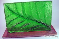 Leaf Abstraction - glass casting by Allan Jaworski