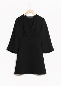 & Other Stories image 1 of Structured Little Black Dress in Black