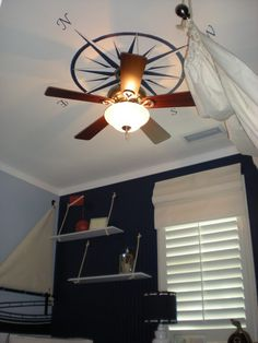 Out to SeaCreate a seaside getaway with a nautical ceiling fan or light  . Nautical Indoor Ceiling Lighting. Home Design Ideas