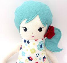 cloth doll- rag doll-  READY TO SHIP. $48.00, via Etsy.
