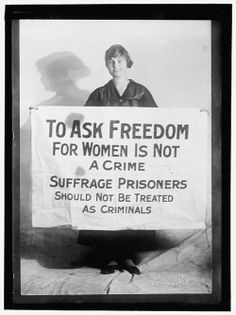 During the fight for the right to vote, many women were imprisoned and tortured while in prison. www.loc.gov