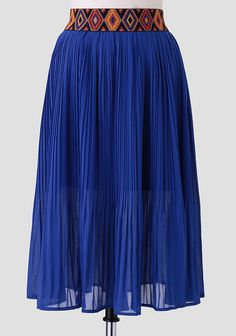 Caribbean Shores Pleated Skirt at #Ruche @Ruche