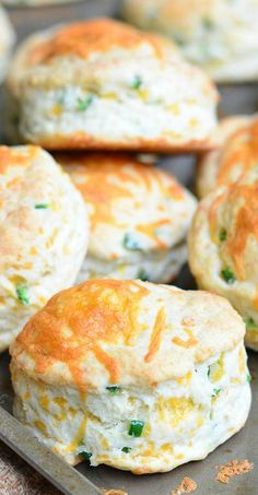 Jalapeño Cheddar Buttermilk Biscuits ~ soft and fluffy with a great cheesy flavor and a zesty bite from jalapeno peppers.