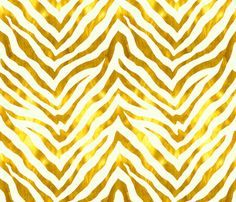 Gold and White Zebra fabric by sparrowsong on Spoonflower - custom fabric