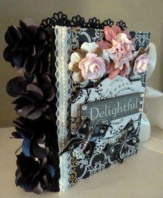 """""""Delightful"""" Premade Chip Board Scrapbook Album *Adriana*"""
