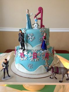 Sugar Love Cake Design: Frozen Birthday Cake. No characters