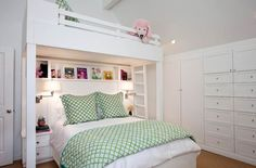 Custom designed bunk bed design for small bedroom