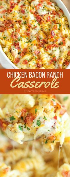 Dinner Recipes casserole 21 Easy Chicken Dinners That Are Tasty AF Chicken Bacon Ranch Casserole Frango Bacon, Good Food, Yummy Food, How To Cook Chicken, Easy Chicken Meals, Healthy Chicken, Recipes With Boiled Chicken, Casseroles With Chicken, Italian Recipes