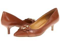 Beautiful Brown Leather Mini Heels.